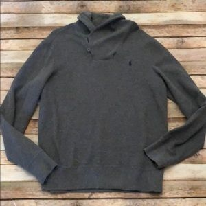 Ralph Lauren polo gray men's pullover large